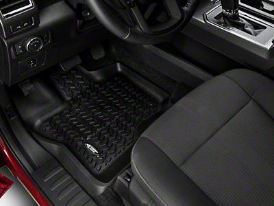 Rugged Ridge All Terrain Front Floor Liners - Black (15-19 F-150)