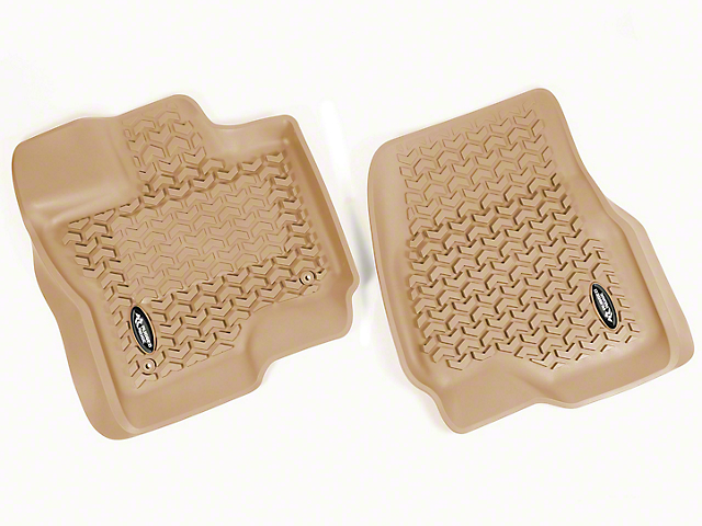 Rugged Ridge All Terrain Front Floor Liners - Tan (15-17 All)