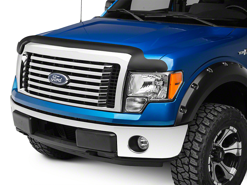 Rugged Ridge Hood Bug Deflector - Matte Black (09-14 F-150, Excluding Raptor)
