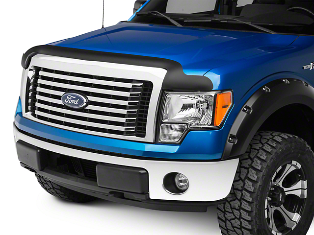 Rugged Ridge Hood Bug Deflector; Matte Black (09-14 F-150, Excluding Raptor)