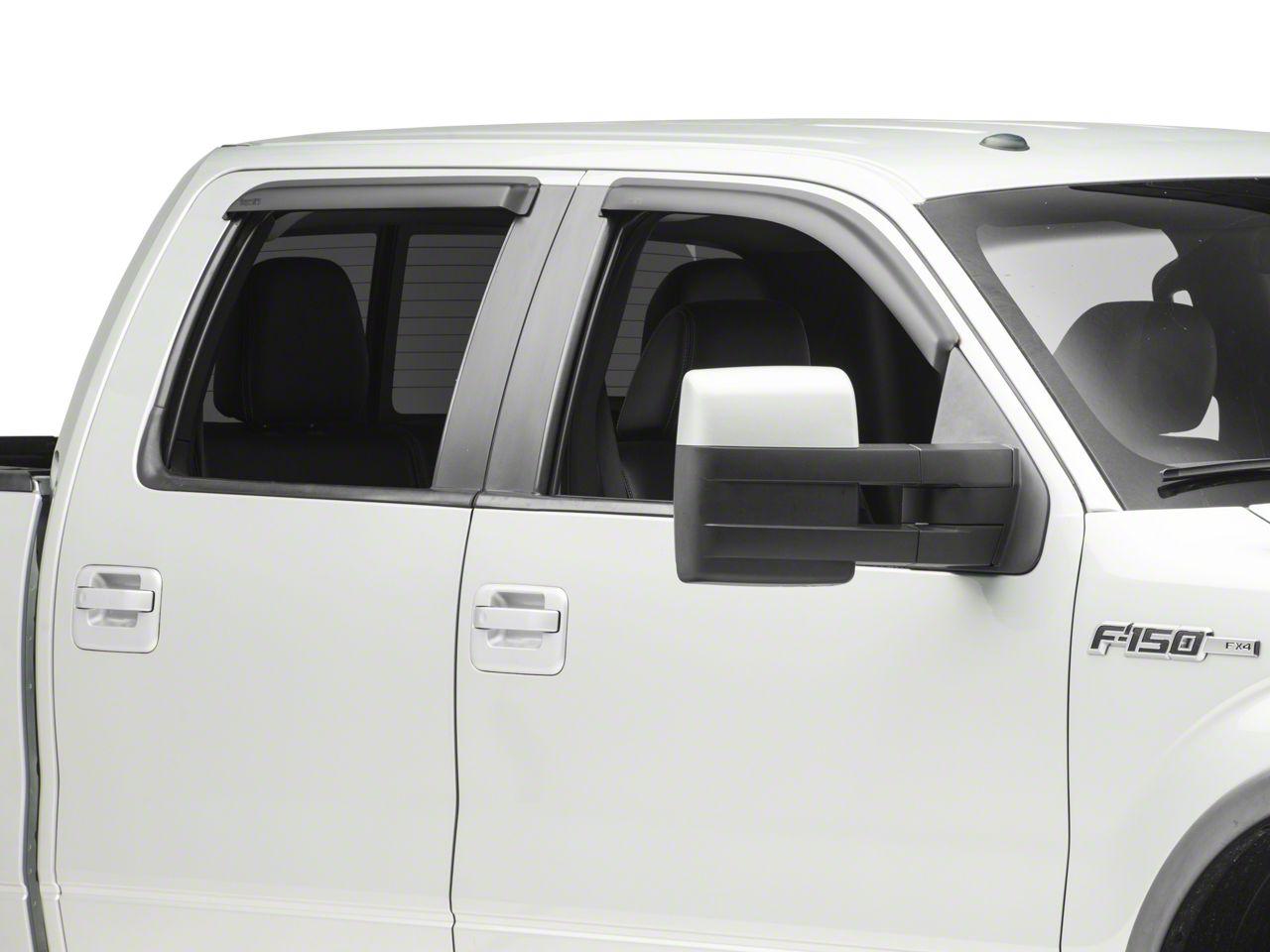 Front & Rear Window Visors - Matte Black (09-14 SuperCrew)