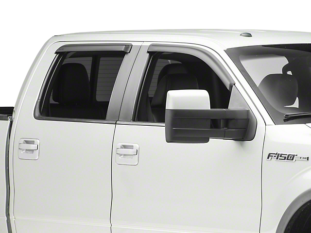 Rugged Ridge Front & Rear Window Visors - Matte Black (09-14 SuperCrew)