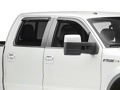 Rugged Ridge Front & Rear Window Visors - Matte Black (09-14 SuperCrew)