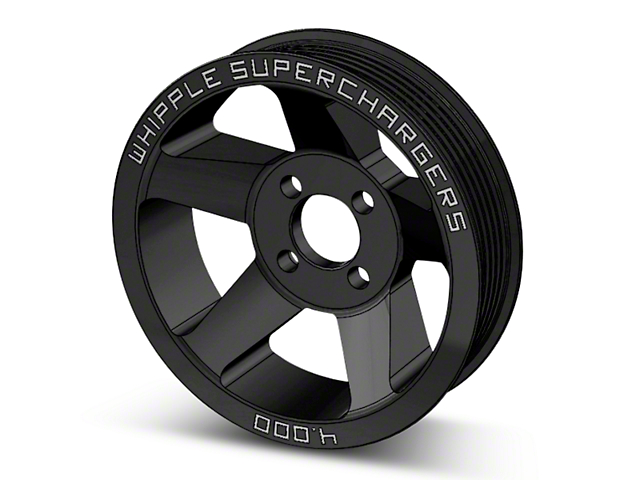 Whipple 6-Rib Supercharger Pulley - Black (10-14 6.2L Raptor)
