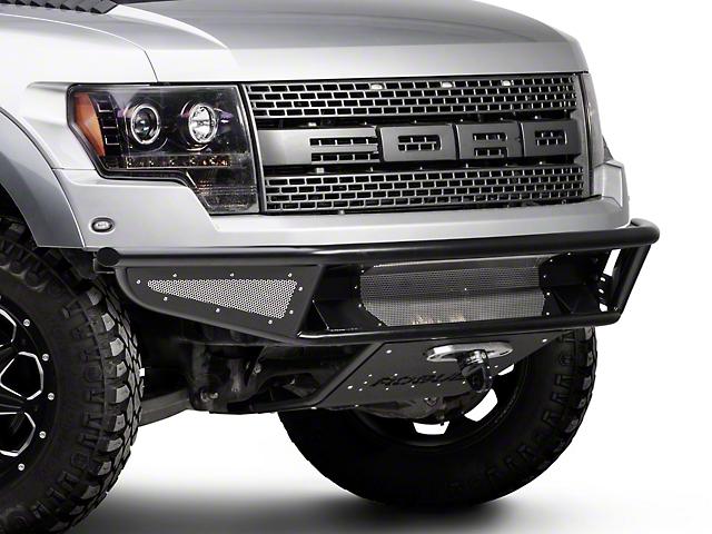 Rogue Racing Throttle Front Bumper w/ Mesh Side Skins & Winch Skid Plate (10-14 F-150 Raptor)