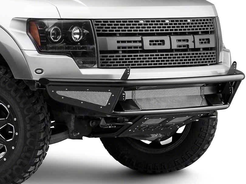 Rogue Racing Throttle Front Bumper w/ Mesh Side Skins & Vented Skid Plate (10-14 Raptor)