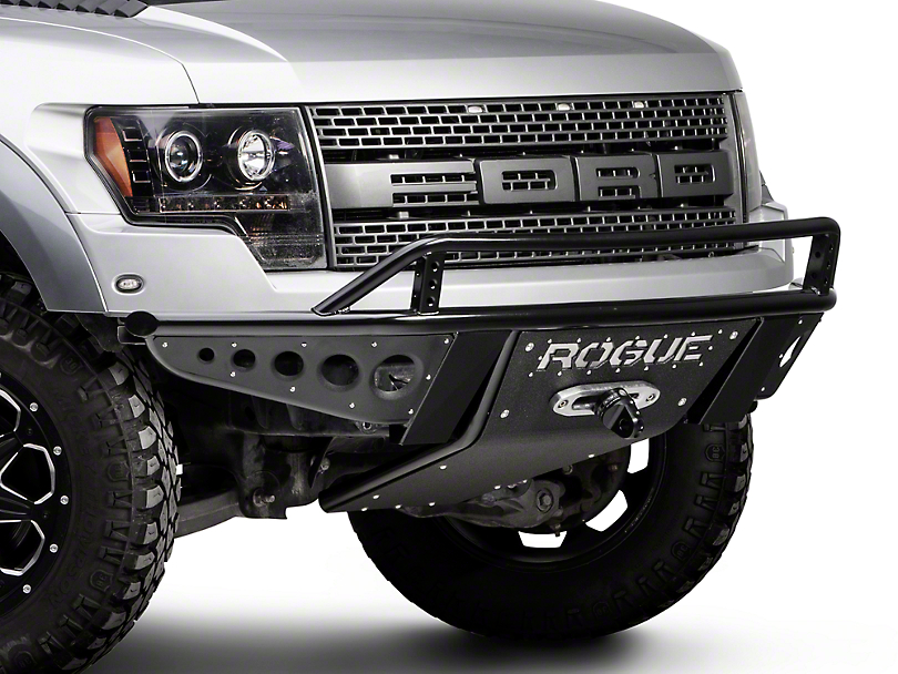 Rogue Racing Revolver Front Bumper w/ Dimple Side Skins & Winch Skid Plate (10-14 Raptor)