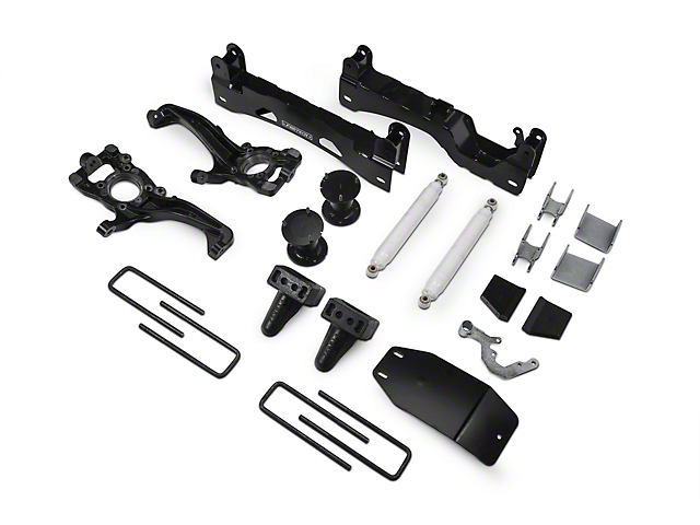 Fabtech 6 in. Basic Lift System w/ Performance Shocks (15-18 4WD SuperCab, SuperCrew, Excluding Raptor)