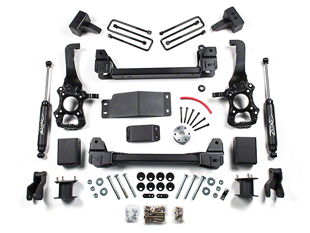 Zone Offroad 4 in. Suspension Lift Kit w/ Shocks (15-16 4WD F-150)