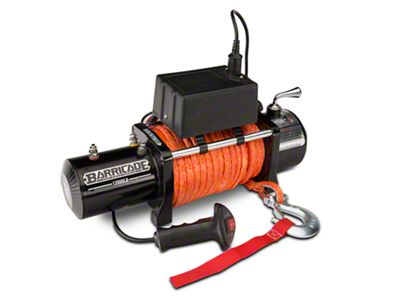 Barricade 12,000 lb. Winch w/ Synthetic Rope