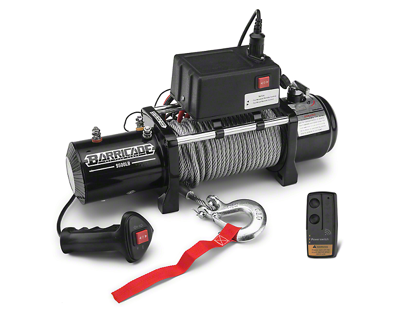 Barricade 9,500 lb. Winch w/ Wireless Control (97-18 All)