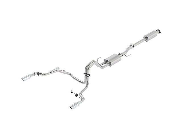 Ford Performance by Borla Sport Cat-Back Exhaust System w/ Chrome Tips - Split Rear Exit (15-17 5.0L)