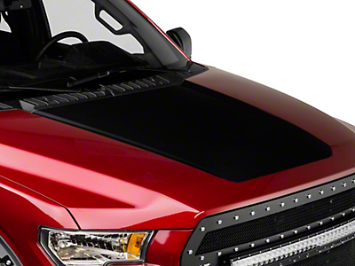 American Muscle Graphics Black Hood Decal (15-17 All, Excluding Raptor)