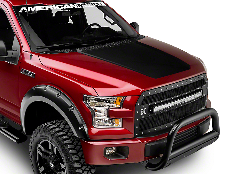 F 150 Matte Black Hood Decal 15 18 F 150 Excluding
