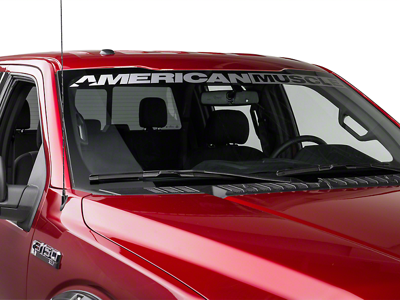 American Muscle Graphics AmericanMuscle Windshield Banner - Frosted (09-18 All)