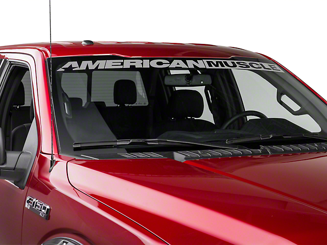 American Muscle Graphics AmericanMuscle Windshield Banner - Silver (09-17 All)