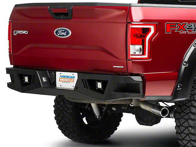 Barricade Extreme HD Rear Bumper w/ LED Fog Lights (15-18 F-150, Excluding Raptor)