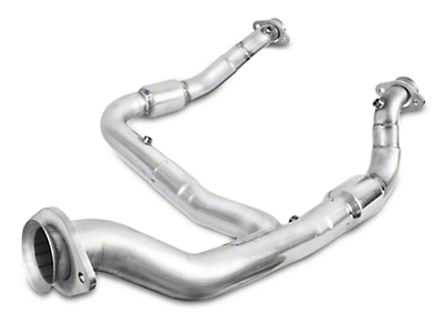 Stainless Works Catted Downpipe - Factory Connect (15-18 2.7L/3.5L EcoBoost F-150, Excluding Raptor)