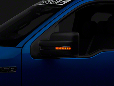 Recon Side Mirror Lenses w/ Amber LEDs - Smoked Lens (09-14 F-150)