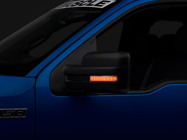 Side Mirror Lenses w/ Amber LEDs - Clear Lens (09-14 F-150)