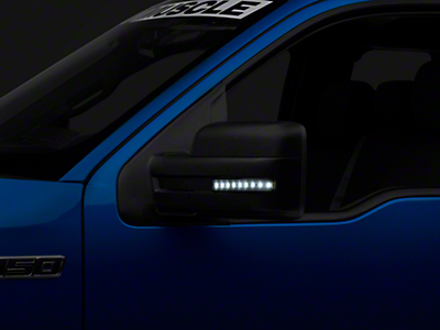 Recon Side Mirror Lenses w/ White LEDs - Smoked Lens (09-14 F-150)