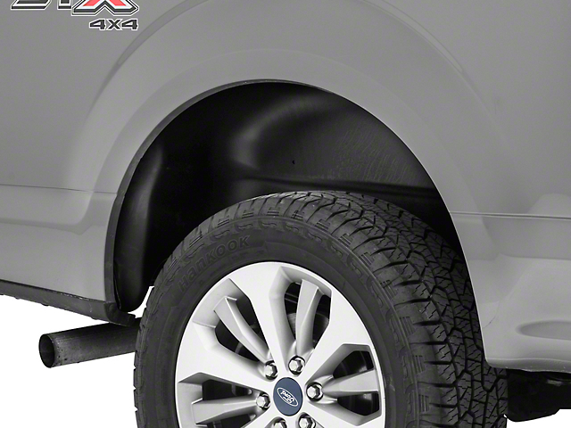 Husky Rear Wheel Well Guards - Black (15-18 F-150, Excluding Raptor)