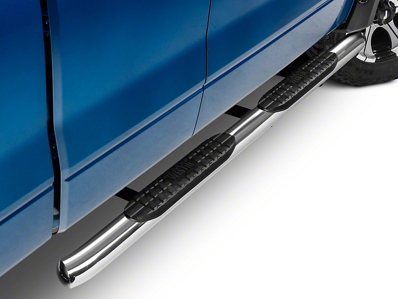 Westin Pro Traxx 4 in. Oval Side Step Bars - Stainless Steel (09-14 SuperCab, SuperCrew)