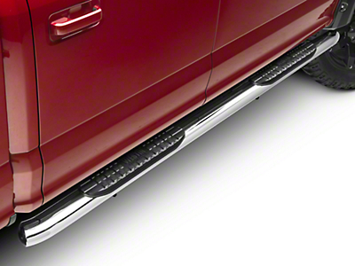 Westin Pro Traxx 4 in. Oval Side Step Bars - Stainless Steel (15-17 SuperCab, SuperCrew)