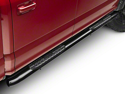 Westin Pro Traxx 4 in. Oval Side Step Bars - Black (15-17 SuperCab, SuperCrew)