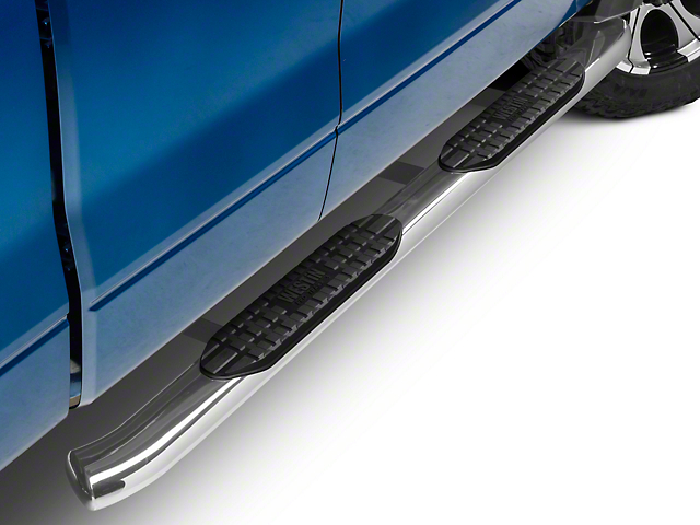 Westin 5 in. Pro Traxx Oval Side Step Bars - Stainless Steel (09-14 F-150 SuperCab, SuperCrew)