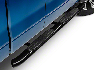 Westin Pro Traxx 5 in. Oval Side Step Bars - Black (09-14 SuperCab, SuperCrew)