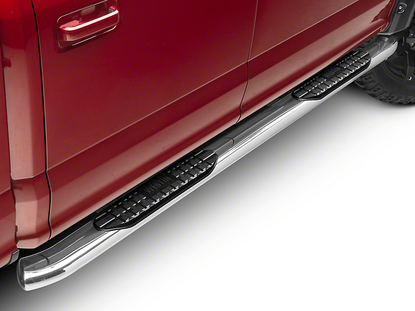 Westin Pro Traxx 5 in. Oval Side Step Bars - Stainless Steel (15-18 SuperCab, SuperCrew)
