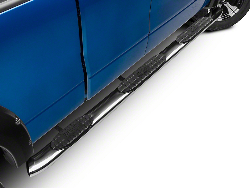 Westin 5 in. Pro Traxx WTW Oval Side Step Bars - Stainless Steel (09-14 F-150 SuperCab w/ 6.5 ft Bed)