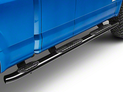 Westin ProTraxx 5 in. Oval WTW Side Step Bars - Black (15-18 SuperCab & SuperCrew w/ 6.5 ft. Bed)