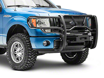 Westin HDX Winch Mount Brush Guard - Black (09-14 All, Excluding Harley Davidson & Raptor)