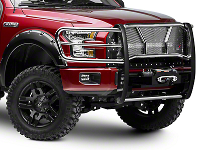 Westin HDX Winch Mount Brush Guard - Stainless Steel (15-18 F-150, Excluding Raptor)