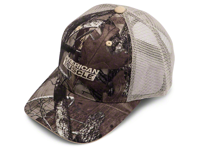 AmericanMuscle Mesh Hat - Fall Camo and Tan