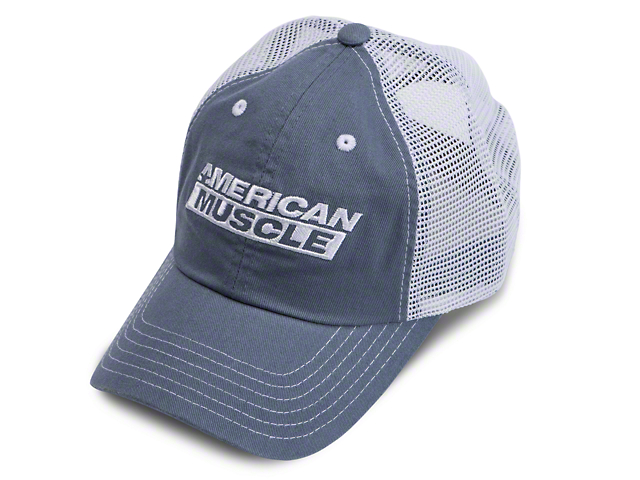 AmericanMuscle Hot Pit Mesh Hat - Blue and White