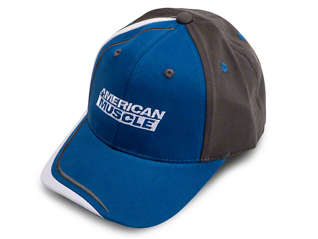 AmericanMuscle Apex Hat - Blue, Gray and White