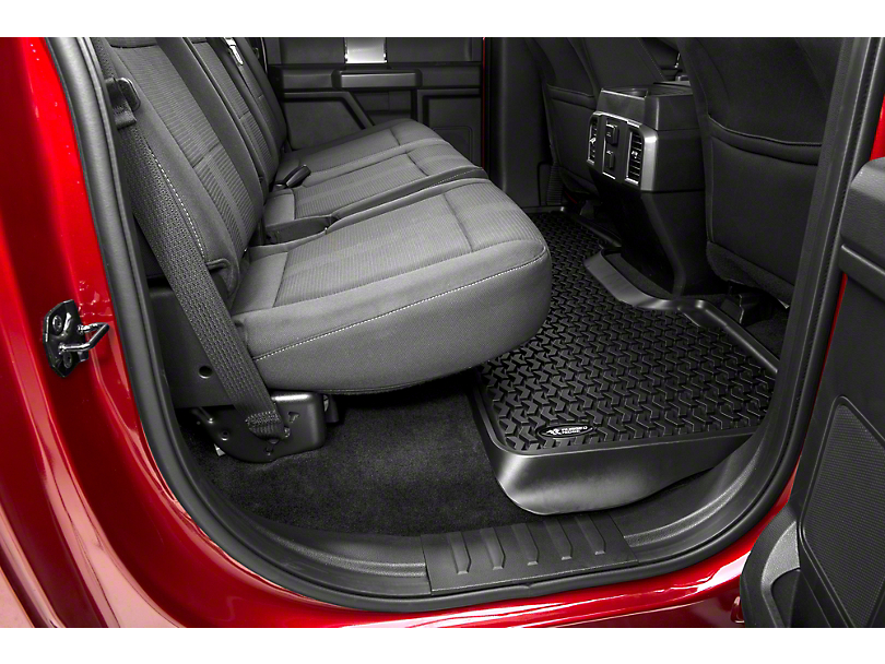 Rugged Ridge Rear Floor Liner - Black (15-18 SuperCrew)