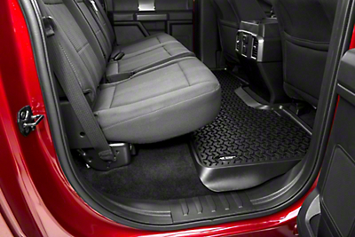 Rugged Ridge Rear Floor Liner - Black (15-17 SuperCrew)