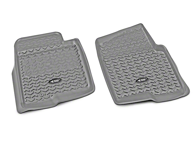 Rugged Ridge Front Floor Liners - Grey (09-14 All)