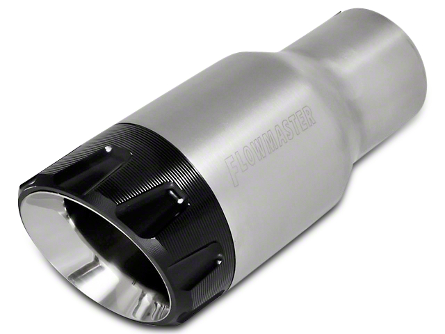 Flowmaster 3.5 in. Angle Cut Exhaust Tip - Brushed Stainless - 2.5 in. Connection (97-17 All)