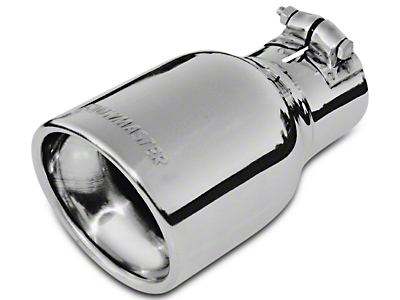 Flowmaster 4 in. Rolled Edge Angle Cut Exhaust Tip - Polished Stainless - 2.5 in. Connection (97-18 F-150)