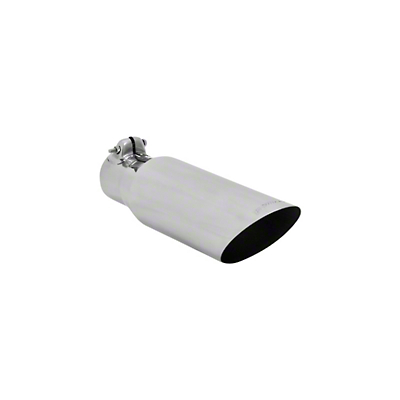 Flowmaster 3.5 in. Polished SS Angle Cut Exhaust Tip - 2.5 in. Connection (97-18 All)
