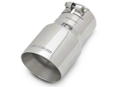Flowmaster 4 in. Angle Cut Exhaust Tip - Polished Stainless - 3 in. Connection (97-18 F-150)