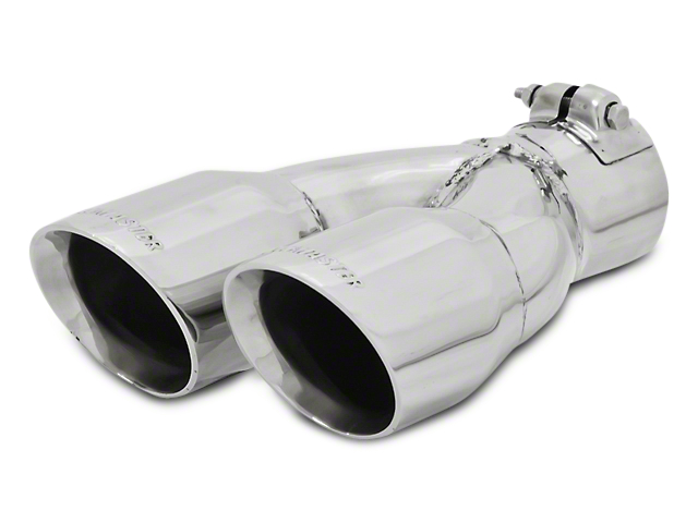 Flowmaster 3.0 in. Dual Angle Cut Exhaust Tip - Polished Stainless - 2.5 in. Connection (97-17 All)