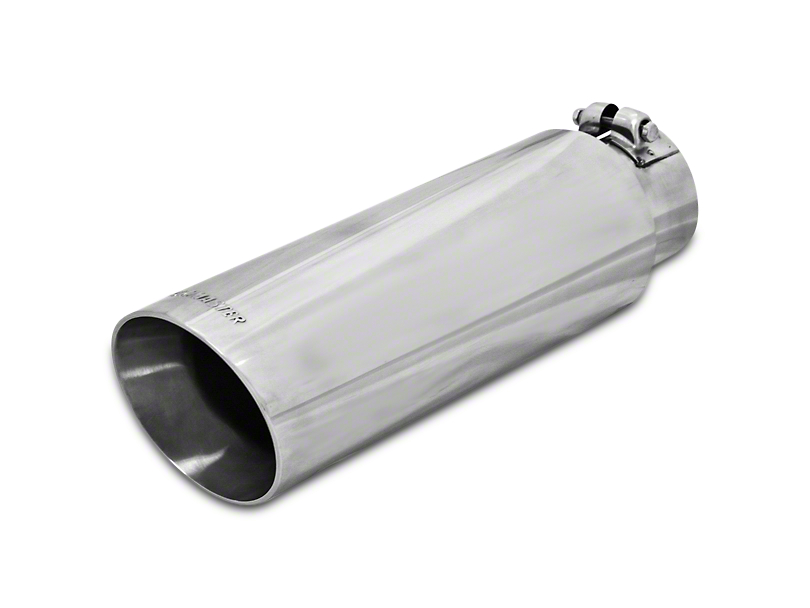 Flowmaster 3.5 in. or 4 in. Polished Angle Cut Exhaust Tip - 2.5 in. or 3 in. Connection (97-19 F-150)