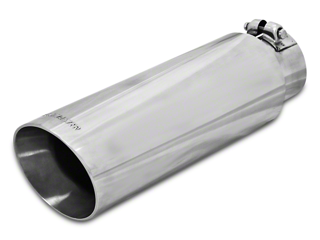 Flowmaster 3.5 in. or 4 in. Angle Cut Exhaust Tip - Polished Stainless - 2.5 in. or 3.0 in. Connection (97-17 All)