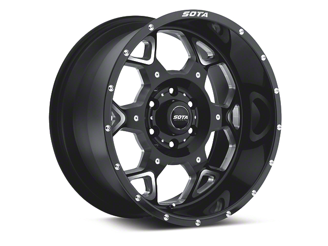 SOTA Off Road S.K.U.L. Death Metal 6-Lug Wheel - 20x10; -19mm Offset (15-19 F-150)